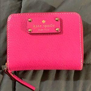 Kate Spade Hot Pink Small Compact Wallet